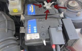 Как снять аккумулятор лада гранта